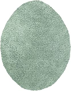 Maples Rugs Toilet Lid Cover-Colorsoft Soft Washable Elongated Seat Rug [Made in USA] Non Slip & Quick Dry for Bathroom, Green Juniper