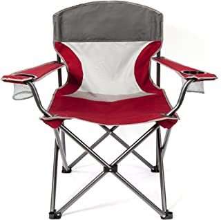Mac Sports TBBM-109 Big Comfort XL Folding Quad Outdoor Camp Chair with Carry Case, Red