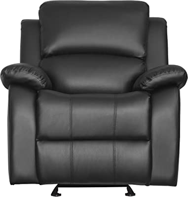 Homelegance 9928BLK-1 Clarkdale Glider Reclining Chair, Black