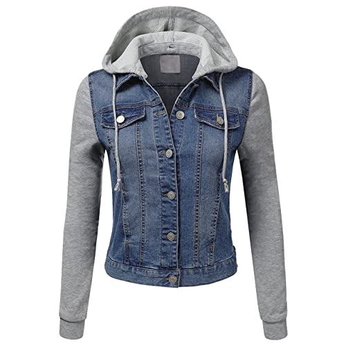 value for money search for clearance prevalent Hooded Jean Jacket: Amazon.com