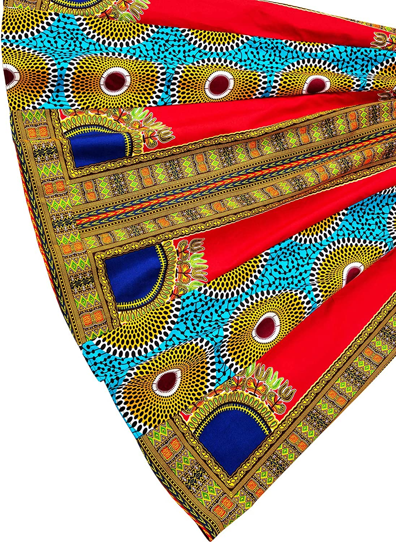 Shenbolen Women Dashiki Maxi Long Skirts African Skirt Elastic Waist One Size