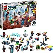 LEGO 76196 Marvel Avengers Adventskalender 2021 Spielzeugset aus Bausteinen mit Spider-Man und Iron Man für Kinder ab 7...