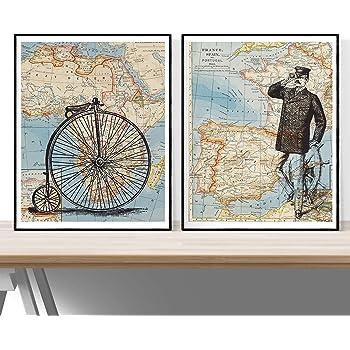 Nacnic Pack Viaje ESPAÑA-Africa. Posters con imágenes del Mundo. Decoración de hogar. Láminas para enmarcar. Papel 250 Gramos: Amazon.es: Hogar