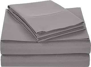AmazonBasics Light-Weight Microfiber Sheet Set - King,...