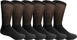 Yacht & Smith Diabetic Nephropathy Edema Socks, Cotton Crew, Ankle, Non Slip Medical Sock