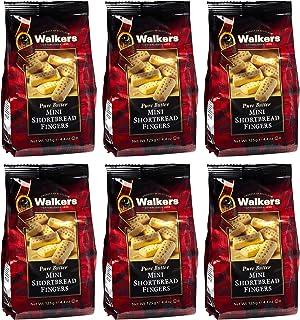 Walkers Shortbread Mini Fingers Shortbread Cookies, 4.4 Ounce Bag (Pack of 6)