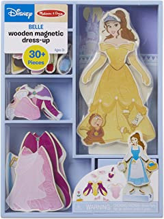 Melissa & Doug Disney Belle Magnetic Dress-Up Wooden Doll Pretend Play Set (30+ Pieces, Great Gift for Girls and Boys - Best for 3, 4, 5 Year Olds and Up)