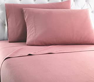 Thermee Micro Flannel Sheet Set, Blush, Queen
