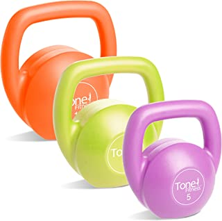 Tone Fitness SDKC2S-TN030 Kettlebell Body Trainer Set with DVD