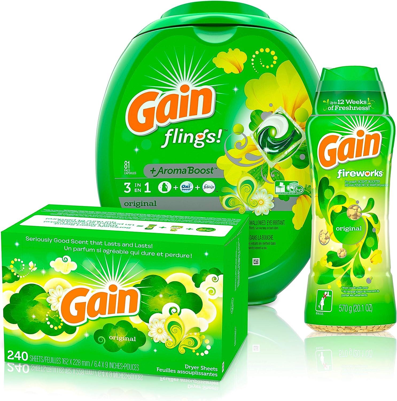 出群 Gain 春の新作シューズ満載 Flings Laundry Detergent Pacs S Fireworks with in-Wash