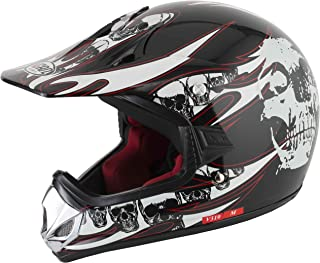VCAN V310 Off Road Motocross ATV/Youth Helm – Totenkopf