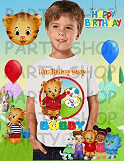 Daniel Tiger Birthday Shirt, Daniel Tiger Birthday Party, Add Any Name and Age, Family Matching Shirts, Boy Birthday Shirt, Personalized Tiger Shirt Family 1