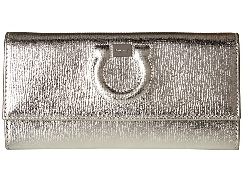 Salvatore Ferragamo Gancio Leather Continental Wallet