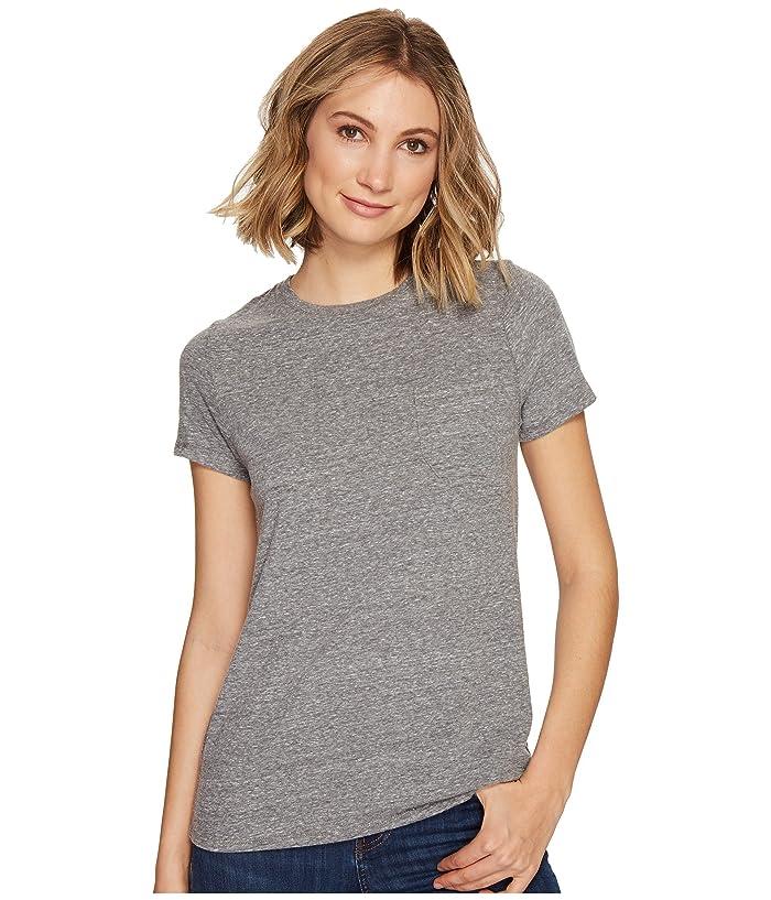 Richer Poorer Crew Pocket Tee (Heather Grey) Women's T Shirt