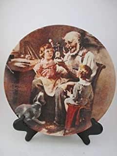 Bradford Plate Edwin M Knowles Norman Rockwell 1977 (The Toy Maker)