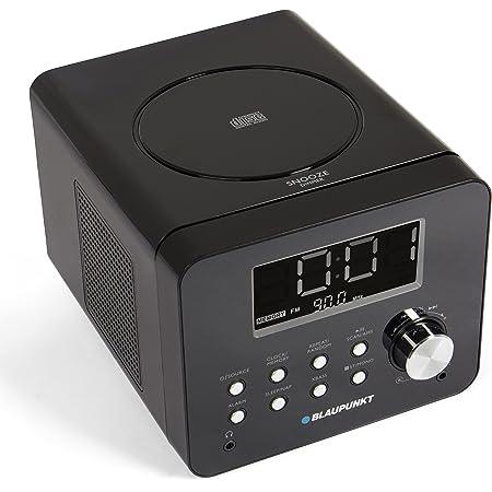 Blaupunkt Cdr 10 Cd Uhrenradio Mit Ukw Pll Ams Radiowecker Mit Zwei Einstellbaren Weckzeiten Dimmbares Display Snooze Aux In Einschlafautomatik Schwarz Audio Hifi