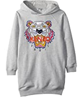 Kenzo Kids - Hooded Tiger Fleece Dress (Big Kids)