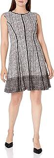 فستان حريمي من Sandra Darren مصنوع من قطعة واحدة من الكتف المرن والمجعد