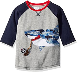 Baby Boys Shark Camo Long Sleeve Raglan T-Shirt