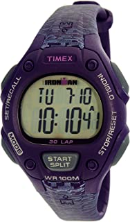 Timex Women's Ironman TW5M07500 Purple Rubber Analog Quartz Sport Watch