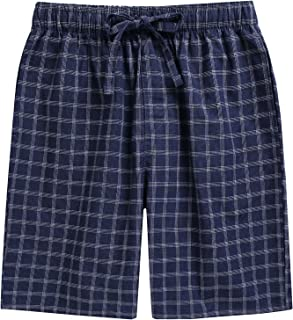 TINFL 6-14 Years Big Boys Plaid Check Soft Lightweight 100% Cotton Lounge Shorts with Pocket