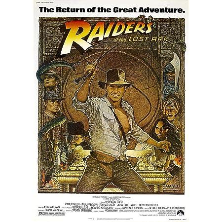 Indiana Jones Raiders of the Lost Ark Covenant Archaeology Adventure Artwork Graphic Minimal Minimalist Alternative Poster Print Movie Film (XS - A4 8.5 x 11 inch (21x29.7 cm))