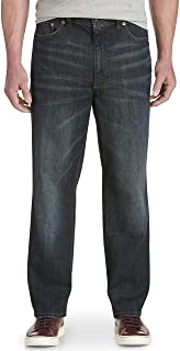True Nation by DXL Big and Tall Relaxed-Fit Stretch Jeans, Renegade Blue