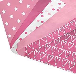 Pink Party Gift Wrapping Tissue Paper Set - 120 Sheets - 14