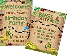 Bug Themed Kraft Colored Birthday Party Supply (Welcome Posters)