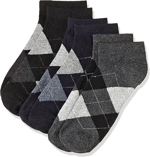 Men s Checkered Ankle Socks Pack of 3