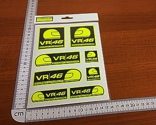 Ecoshirt T8-5JS0-KVP3 Pegatinas 46 Rossi Fluor Yellow Pg06 Stickers Aufkleber Decals Autocollants Riders Academy