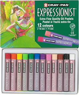 Sakura XLP12 12-Piece Cray-Pas Expressionist Assorted Color Oil Pastel Set