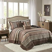 "Madison Park Princeton Bedspread Set, Oversized King(120""x118""), Red"