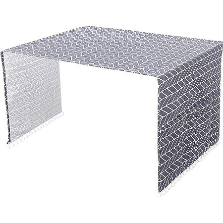 Housse de Réfrigérateur Couvercle Anti-poussière Polyvalent pour Machine à Laver, Housse de Protection pour Réfrigérateur à Porte Simple avec Poches de Rangement 55x130cm (Flèche Grise) 1 Pièce
