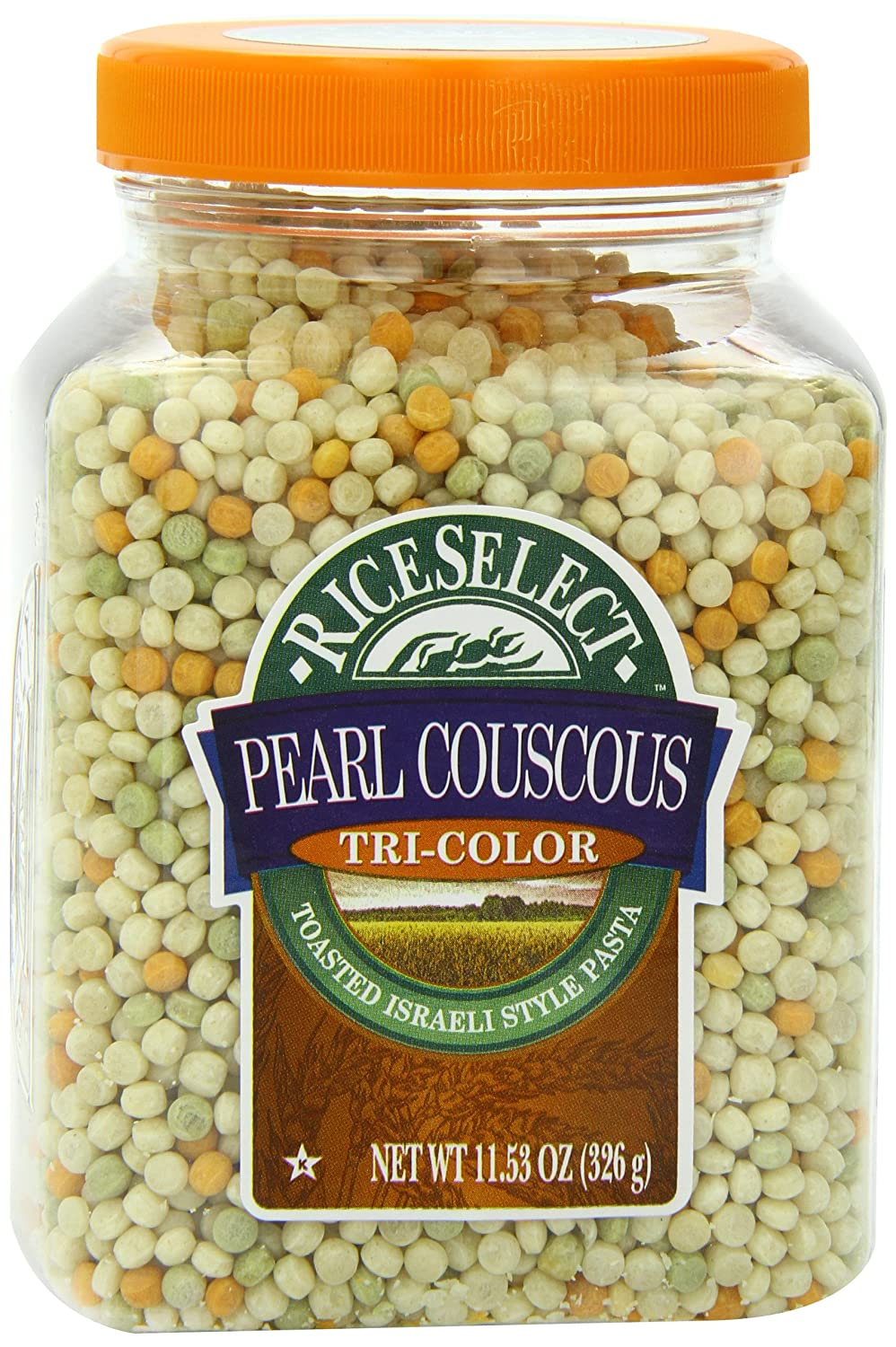 Amazon Com Riceselect Tri Color Pearl Couscous 11 53 Oz Jars Pack Of 6 Dried Couscous Grocery Gourmet Food