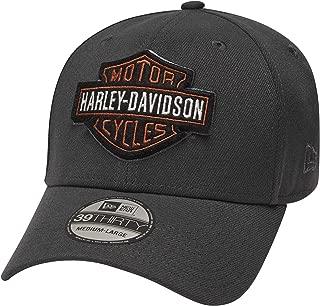 HARLEY-DAVIDSON Men's Embroidered Logo 39Thirty Cap, Grey