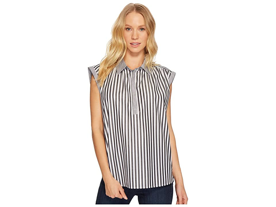 Image of AG Adriano Goldschmied Abigail Top (Black/White) Women's Clothing