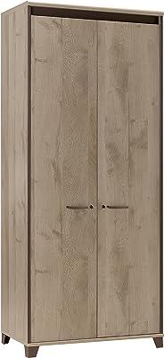 GAMI Mambo Armoire avec 2 Portes, Panneaux de Particules, Chêne/Chocolat, 46x80x187 cm
