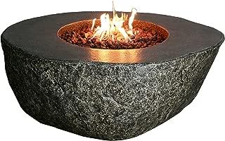 Elementi Concrete Fiery Rock Fire Pit - Propane
