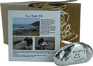 Gifts in a Tin Anneau pour homme en /étain effet bross/é Cadeau pour 10e anniversaire de mariage