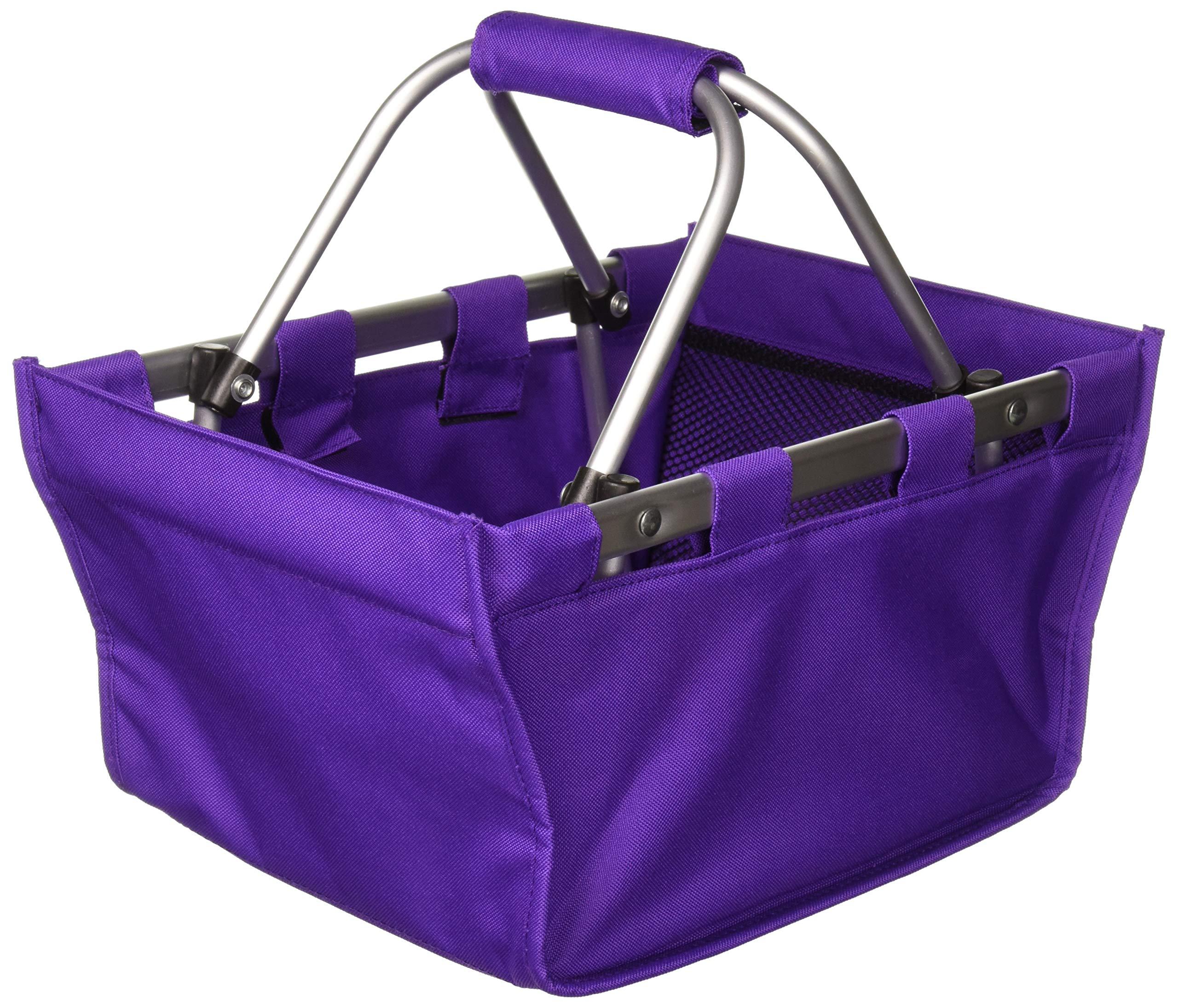 批发精品 MARKETVL-MINIPUR 紫色市场手提袋耐用可移除铝框,均码