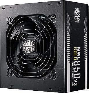 Cooler Master MWE 850 Gold V2 Fully Modular PSU (UK Plug) - 80 Plus Gold 850W Power Supply Unit, Flat Black Cabling, 120mm...