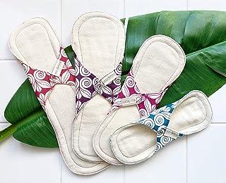 はじめての布ナプキンキット 南インド「Eco Femme」4枚セット 洗えるオーガニックコットン(肌面無漂白)GOTS認定品