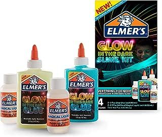 Elmer's Glow-in-the-Dark Slime Kit 胶水(2062242)