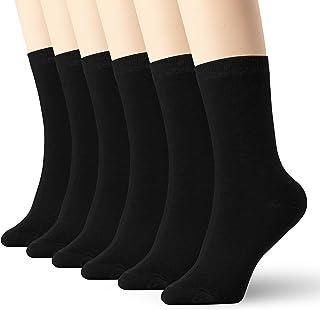 Calcetines de algodón para mujer y hombre, 6 unidades, delgados, de tobillo alto, ligeros, Negro