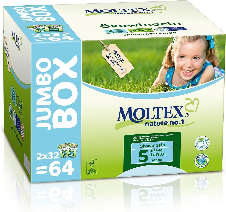 104 St MOLTEX Nature No1 Peanuts /Ökowindeln Babywindeln JUNIOR Gr 5 11-25 kg 4x 26 St/ück