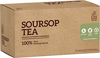 Soursop Graviola Tea Pack of 30 - 100% Pure Dried Leaves, All Natural, No Preservatives, The Richest Nutrient & Antioxidant Superfood