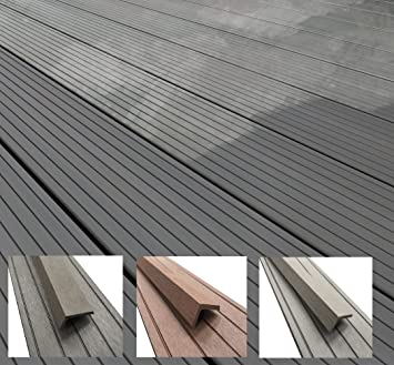 Composite Decking Grey Choose From 3 Colours 11 Sizes 35 Square Metre Pack For Gardens Patios Amazon Co Uk Diy Tools