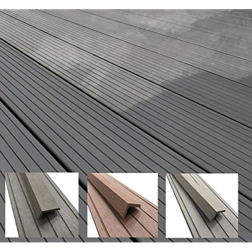 Composite Decking Boards Wood Plastic Fixings Kit Pack Grey Boarding
