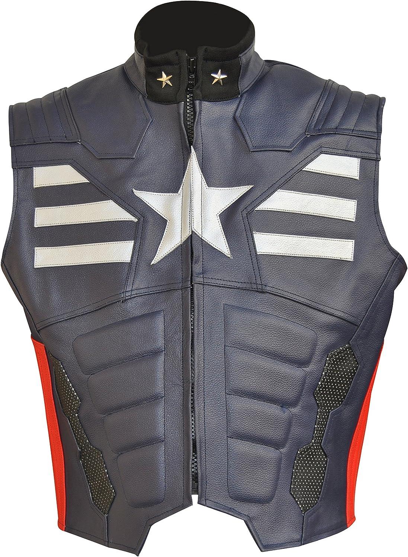 coolhides Men's Fashion America Real Leather Vest